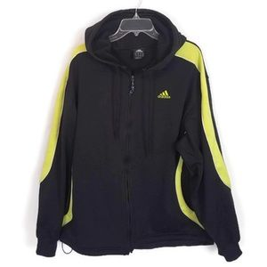 Adidas Men's Yellow & Black Zip Up Jacket